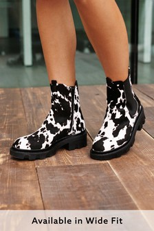 Animal Regular/Wide Fit Forever Comfort® Chunky Chelsea Boots