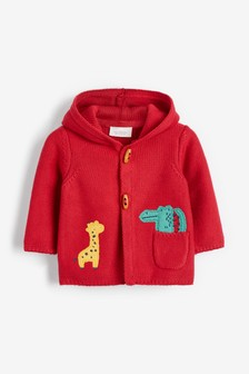 Red Character Appliqué Hooded Cardigan (0mths-2yrs)