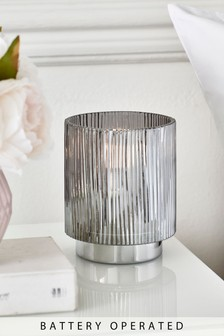 Battery Operated Ribbed Ambient Lamp