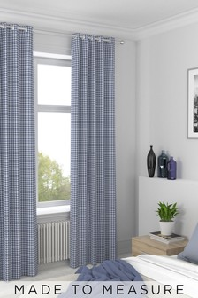 Melrose Navy Blue Made To Measure Curtains