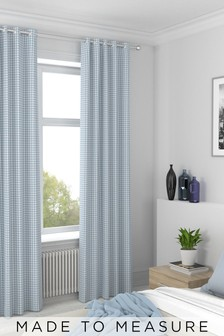 Melrose Sky Blue Made To Measure Curtains
