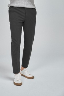 Charcoal Drawstring Formal Trousers