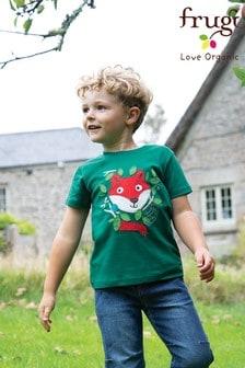 Frugi Green GOTS Organic Short Sleeve T-Shirt
