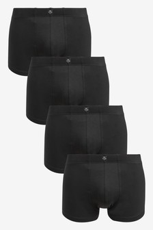 Essential Black Hipsters Four Pack