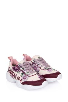 Girls Pink Rose Trainers