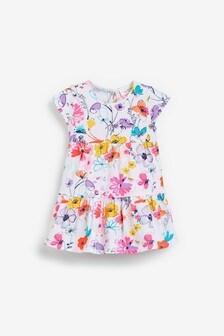 Ecru Bright Floral Jersey Dress (0mths-2yrs)