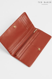 Ted Baker Brown Gebella Slim Poppered Matinee Purse