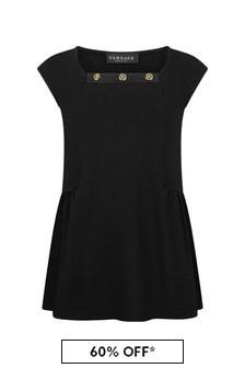 فستان قطن أسود للبنات منVersace