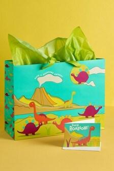 Dinosaur Gift Bag Set