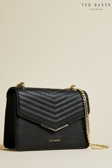 Ted Baker Black Bonitah Quilted Envelope Mini Cross Body Bag