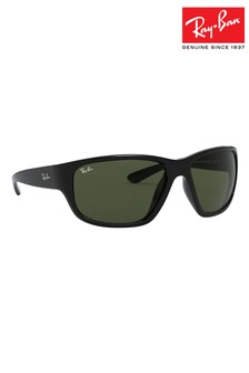 Ray-Ban® Black Wrap Round Sunglasses