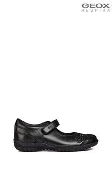 Geox Junior Girl's Shadow Black Ballerina Shoes