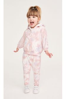 Pink Tie Dye Hoody Soft Touch Jersey (3mths-7yrs)