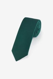 Green Slim Twill Tie