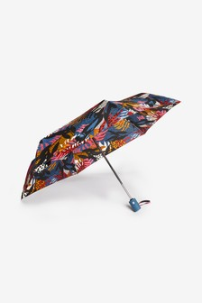 Animal/Colour Tropical Leaf Print Auto Open Auto Close Umbrella
