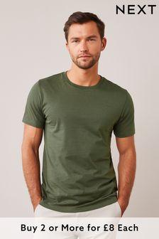 Dark Khaki Regular Fit Crew Neck T-Shirt