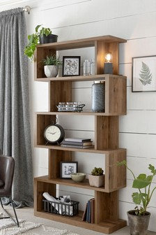 Oak Effect Bronx Tall Shelf