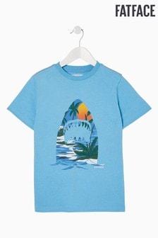 FatFace Blue Resort Shark T-Shirt