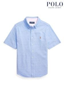 Ralph Lauren Blue Logo Short Sleeve Shirt
