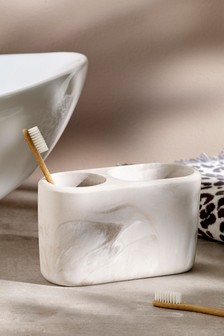 Marble Stone Effect Toothbrush Tidy