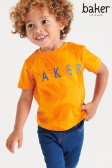 Baker by Ted Baker Boys Palm Printed T-Shirt