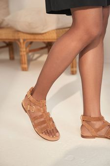 Tan Regular/Wide Fit Forever Comfort® Gladiator Sandals