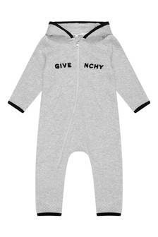 Baby Light Grey Hooded Coverall