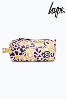 Hype. Foil Leopard Pencil Case