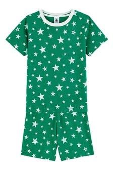 Petit Bateau Green Star Pyjamas