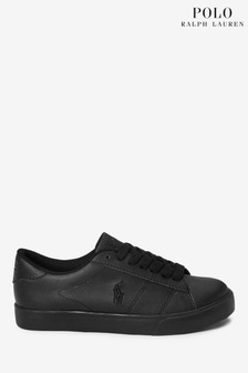 Ralph Lauren Black Theron Trainers
