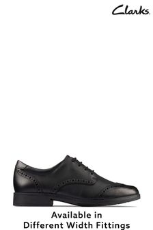 Clarks Black Leather Aubrie Craft Shoes