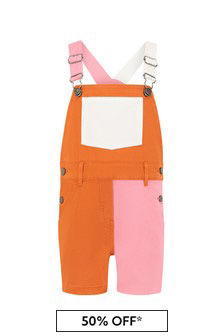 Stella McCartney Kids Baby Girls Multicoloured Cotton Dungarees