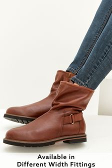 Tan Extra Wide Fit Forever Comfort® Leather Weekend Ankle Boots