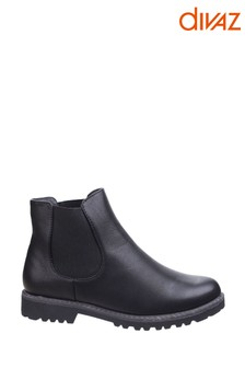Divaz Black Grace Ladies Chelsea Boots