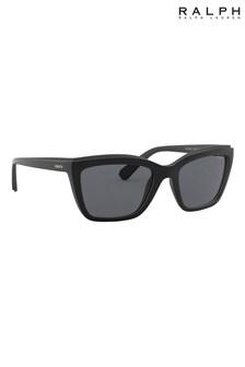 Ralph by Ralph Lauren Black Rectangle Sunglasses