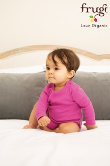 Frugi Purple GOTS Organic Long Sleeve Bodysuit
