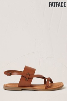FatFace Brown Olivia Buckle Detail Sandals