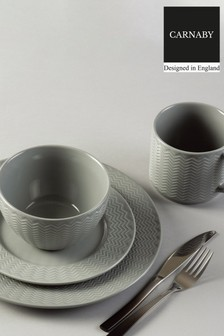 16 Piece Carnaby Argyle Dinner Set