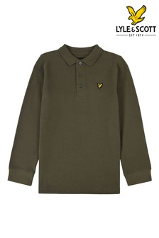 Lyle & Scott Green Long Sleeve Classic Poloshirt