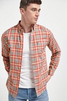 Pink Regular Fit Lightweight Check Shirt