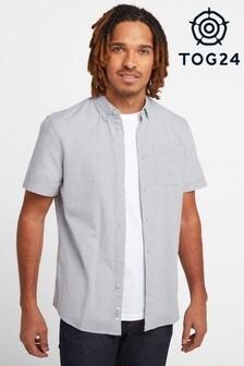 Tog 24 Blue Kahlo Mens Plain Linen Shirt
