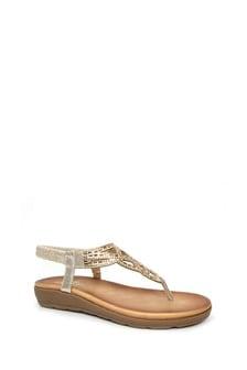 Lunar Glitz Toe Post Sandals