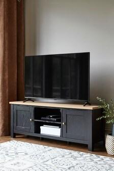 Black Malvern Wide TV Stand