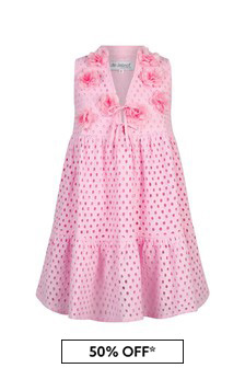 Selini Action Girls Pink Cotton Dress