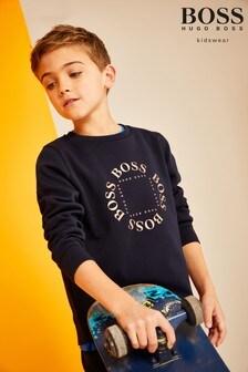 BOSS Navy/Gold Capsule Logo Sweatshirt