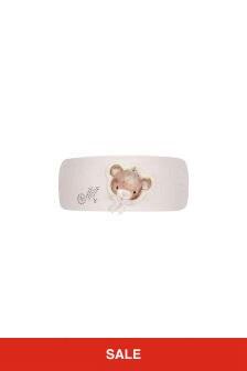 Baby Girls Pink Cotton Teddy Headband