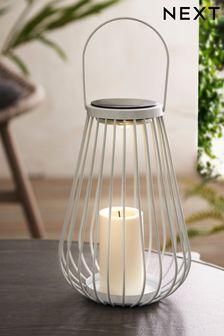 Solar White Wire Lantern