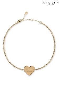 Radley London Sterling Silver Double Engraved Heart Bracelet