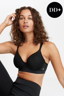 Black Sports High Impact Full Cup Wired Bra