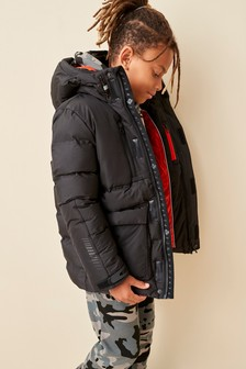Black Premium Padded Jacket (3-16yrs)